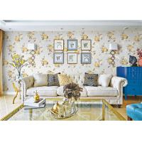 Quality Removable Indoor Non Woven Wallcovering For Bedroom Walls , Flower Design for sale