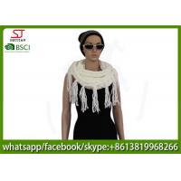 Quality 320g 80*25cm 100%Acrylic Knitting white snood scarf Hot sale  factory  keep warm fashion match clothes for sale