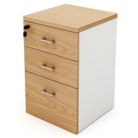 Quality Office Furniture Wooden Panel Pedestal Credenza Movable Three Drawer Cabinet With Lock for sale