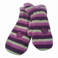Quality Women's Knitted Gloves with Jacquard Weave, Made of 100% Acrylic for sale