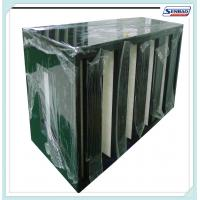 Quality High Capacity Absolute Air Furnace Filter V Shape F5 - F9 Efficiency for sale