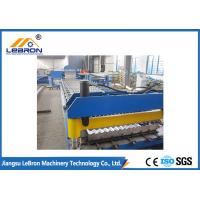 China New blue color corrugated roof sheet roll forming machine / corrugated roof roll forming machine on sale