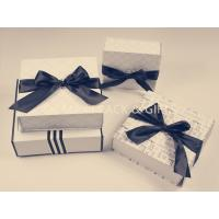 China Foldable Chipboard Gift Box With Ribbon Bow Big Tied , Custom Chipboard Boxes For Crafting on sale
