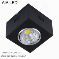 China IP42 black indoor surface COB 7W Ceiling down light&LED Grille light on sale