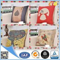 Quality Washable Printed Decorative Soft Pillow Sofa Seat Cushions With Filling for sale