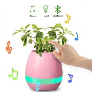 Wireless Bluetooth Speaker Smart Music Playing Piano Flowerpot with Night Light