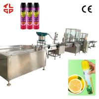 Buy cheap Automatic Bacteria Remover Spray Filling Machine / Insecticide Aerosol Filling Equipment product