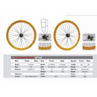 Quality Yellow Fixed Gear Wheels, Aluminum Bicycle Wheel Water Transfer Printing MTSCB43 MT160 for sale