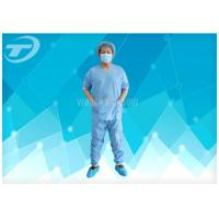 China SMS Patient Hospital Disposable Scrub Suits Soft Disposable Medical Gowns , CE certified on sale