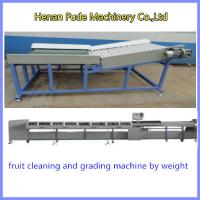 Quality apple grading machine, Fruit Cleaning and Grading Production Line, peach weight sizer for sale