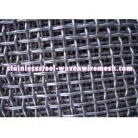 Quality High Tensile Carbon Steel Crimped Wire Mesh With Square Aperture And Round Wire In Sheet for sale