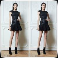 China Black Sheer Plus Size Cocktail Party Dresses , Zuhair Murad Party Gowns on sale