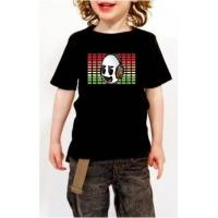 China Hot selling best quality LED kid's funny equalize t-shirt on sale