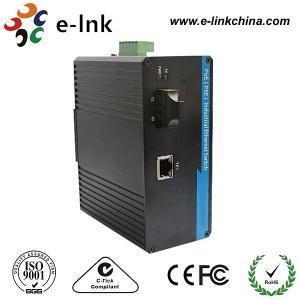 SC Connector Industrial Managed Ethernet Media Converter Single Mode Fiber To Rj45