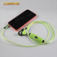 China funny 3.5mm earphone with led light on sale