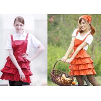 Flounced Dress Printed Kitchen Cooking Aprons , Funny Cooking Aprons For Women