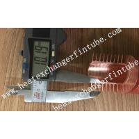 Buy cheap Extruded High Copper Radiator Finned Tubes With 10.5mm Fin Height product