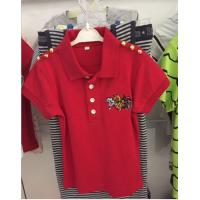 Quality Childern Cotton Red  Polo for sale