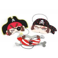China Pirate Design Felt Funny Halloween Masks For Halloween Costume Ball on sale