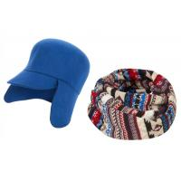 China Double layers knitted jacquard hat turnup hat on sale