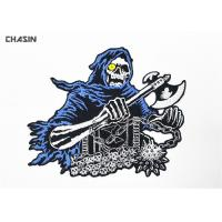 Quality Intricate  Punk Skull Motorcycle Biker Patches Glue Backing Biker Vest Patches for sale