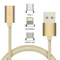 China 3 In 1 Magnetic USB Type-C Cable Charging / Data Sync / Lightning Micro USB Cable on sale