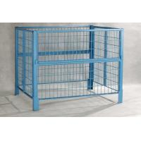 Quality Gold Zinc Plated Foldable Pallet Container Roll Cage 1000 Ltr Ibc Container for sale