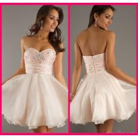 Quality Sweetheart Ball Gowns Short Long Homecoming Dresses Pink Organza Beading for sale