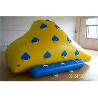 Quality Funny Floating Water Toys , Inflatable Rock Climbing Wall For Water Leak Proof for sale