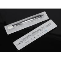 Buy cheap Black Eyebrow Microblading Tools Blister Packing Disposable Manual Pen With Brush from wholesalers