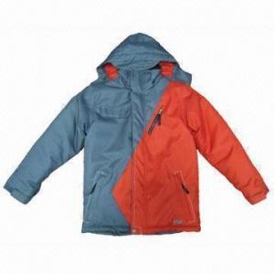 Quality Ski Wear for Children, 100% Polyester Honey Talon, WP 3,000mm Shelling, ODM/OEM Orders Welcomed for sale