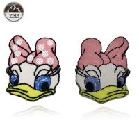 China Fashionable Duck Custom Chenille Patches / Disney Character Patches Sew On Style on sale