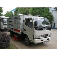 Quality Dongfeng Street Vacuum Truck , Garbage Street Sweeper Truck With 4 Brushes for sale