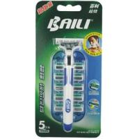 Home use Manual Rubber handle Twin Blade Razor bliter card packing