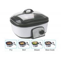 Quality Slow Small Electric Multi Cooker Glass Cover With Stainless Steel Steamer Rack for sale