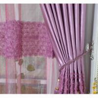 Buy 3-D Ribbon Lace Polyester Mesh Embroidered Fabric at wholesale prices