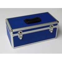 Quality Blue aluminum first aid box portable doctor case for carry medicine and medicine tools for sale