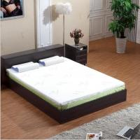 Quality Bamboo Fiber Memory Foam Mattress Topper White Color Compressed Queen Size for sale