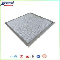 Quality White Pre Pleated Panel Air Filters For AHU Ventilation System for sale