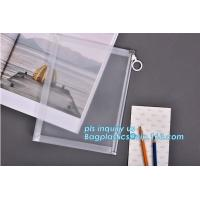 Custom transparent pp slider bag with air hole, writable zip lock bags with white panel, slider bags with zipper lock