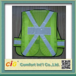 Quality EN20471 and CE Standard LED Reflective Safety Vests , Orange Reflective Security Clohting for sale