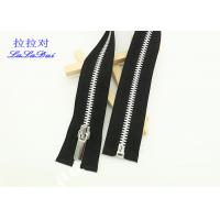 Quality Silver / Gold Teeth Open End 22 Inch Metal Separating Zipper For Dress / Causal Wear for sale