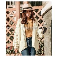 Quality OEM Custom Ladies' Hand knit Cardigan, Hand Knitted Sweater,  Fashion Girls Cardigan Factory Manufacturer Supplier for sale