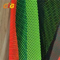 Quality Yellow / Orange / Red 100% Polyester Mesh Fabric For Reflective Safety Vests for sale