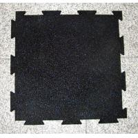 Quality New Indoor Interlocking gym rubber mat with dovetail for sale