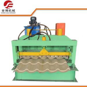 SHIBO - 1025 Glazed Tile Roll Forming Machine , Highway Guardrail Forming Machine