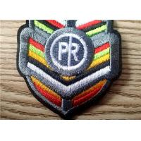 Quality Durable Colorful Embroidered Patches Of Brand Logo For Garment for sale