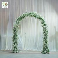 Quality UVG CHR1120 8ft white wedding arch in artificial cherry branches for theme decoration for sale