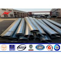 Sided Multi Sided 8m 25 KN Metal Utility Poles For Overhead Electric Power Tower