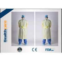Quality Hygiene Disposable Protective Gowns Doctor Suit Blue / White / Yellow / Green Colour for sale